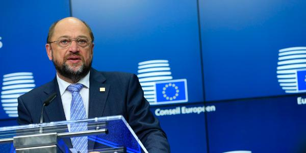 EP President Martin Schulz during the European Summit press conference on 23/10/2014 © European Union 2014 - European Council