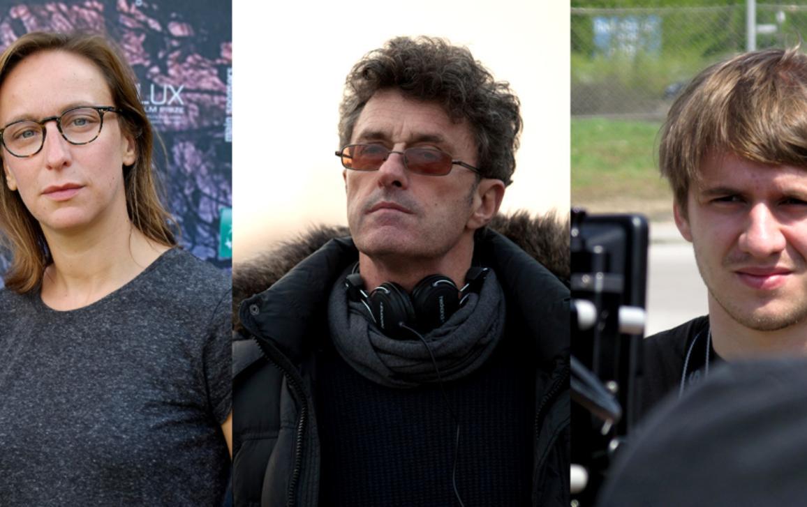 Céline Sciamma, directora de 'Bande de filles'; Paweł Pawlikowski, director de 'Ida'; y Rok Biček, director de 'Razredni sovražnik'.