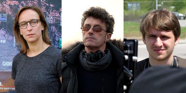 """Céline Sciamma - reżyserka """"Girlhood""""; Paweł Pawlikowski - reżyser """"Idy"""" oraz Rok Biček - twórca """"Class Enemy""""."""