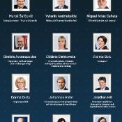 Nyhetsgrafik med profilbilder över de nyutnämnda kommissionärerna