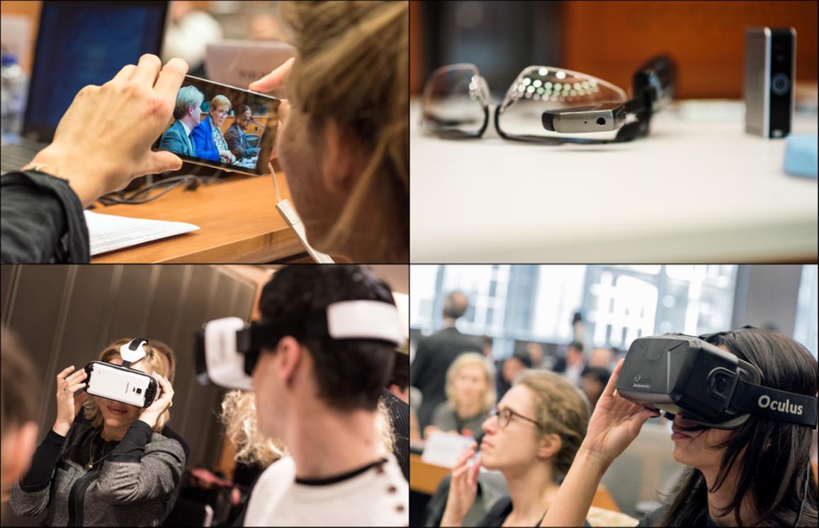 Los participantes pudieron probar durante el taller algunos nuevos dispositivos.