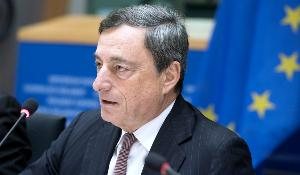 ECB President Draghi met MEPs today to discuss financial market issues