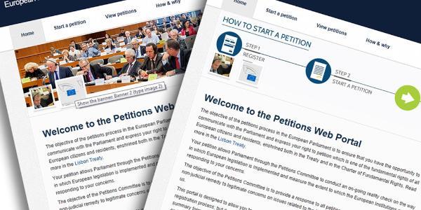 Nowa strona petycji do PE - złóż swoją, poprzyj inne!