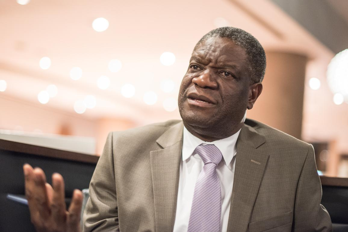 Sakharov laureate Denis Mukwege talks about violence against women. ©Pietro Naj-Oleari_Mukwege_11242014_265  ©Pietro Naj-Oleari_Mukwege_11242014_265