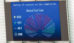 Motion of censure against the Commission rejected by a large majority
