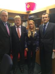 lmar Brok meets Lilian Tintori, wife of Leopoldo Lopez of Venezuela´s Opposition