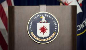 Press conference at CIA headquarters in Langley, Virginia