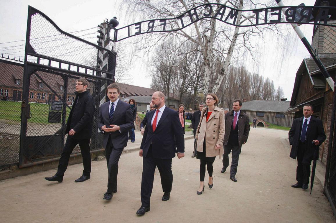 Visit of EP President Schulz to Auschwitz in 2014