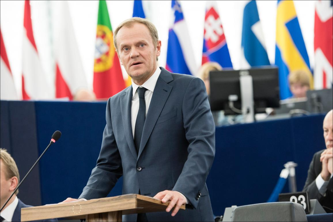 Newly-elected European Council President Donald Tusk attends his first EP plenary debate on the outcome of December summit
