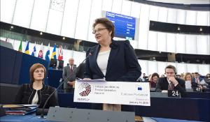 Latvia's PM Laimdota Straujuma presents Latvian Presidency's priorities #eu2015lv at the European Parliament