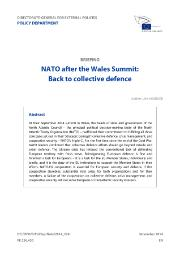 SEDE briefing: NATO after the Wales Summit: Back to collective defence