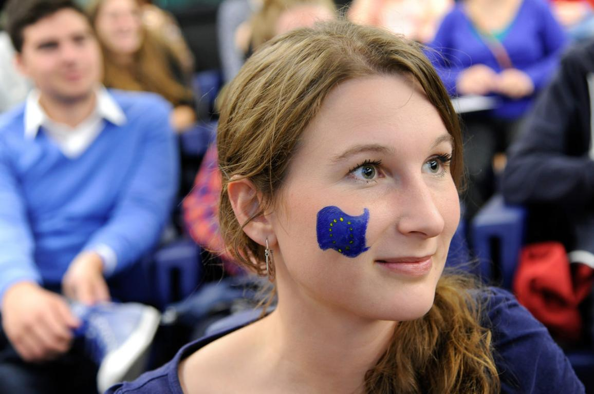 One of the participant of the EYE 2014 event held in Strasbourg at the European Parliament