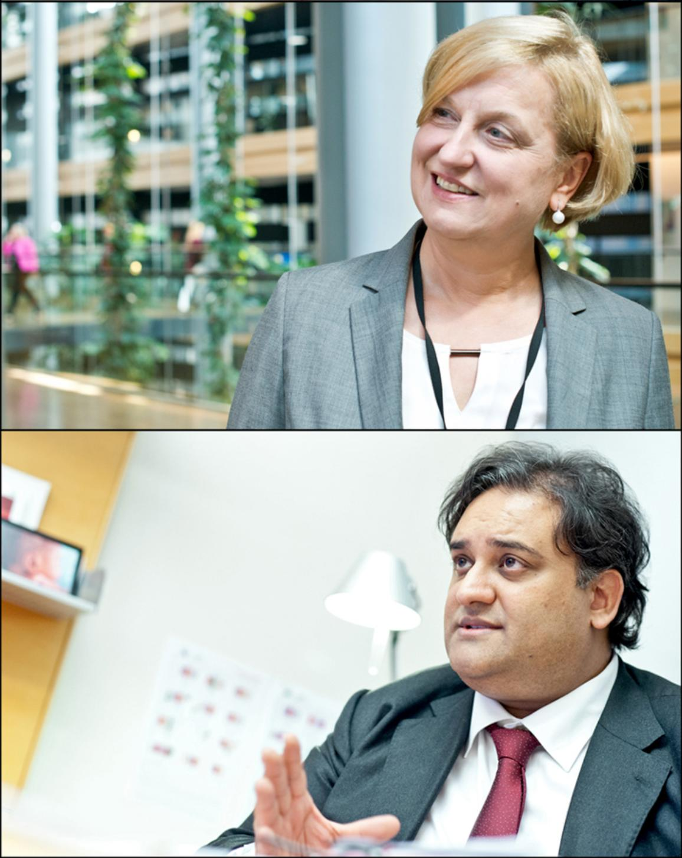 Anna Elżbieta Fotyga and Claude Moraes