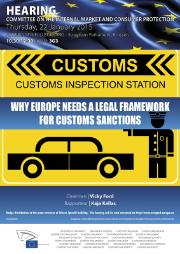 Hearing Why Europe needs a legal framework for customs sanctions
