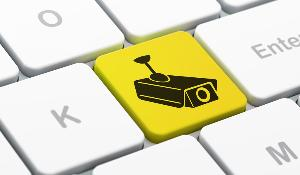 A computer keyboard with a CCTV Camera icon on a button ©BELGA_EASYFOTOSTOCK