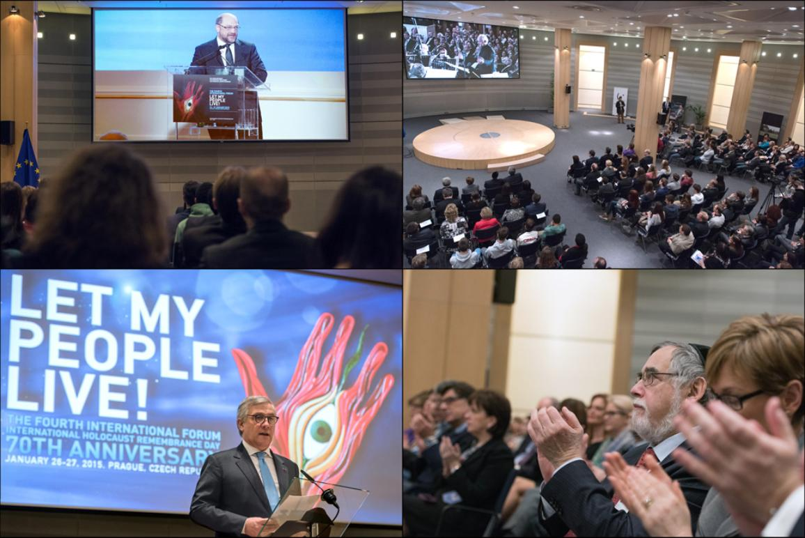 Ceremony inside the European Parliament to celebrate the 70 years anniversary of the holocaust remembrance day