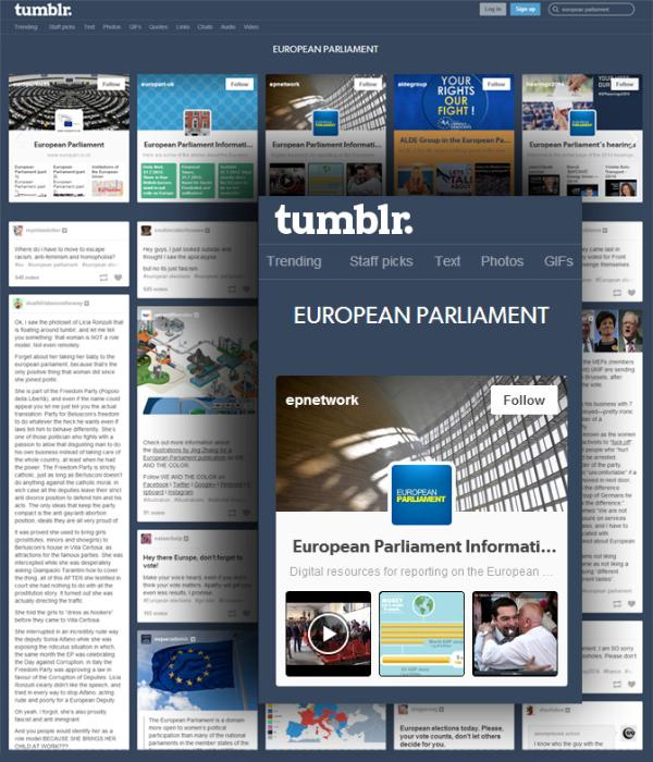 European Parliament Network Tumblr