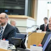 Ο αντιπρόεδρος των ΗΠΑ Τζο Μπάιντεν στο ΕΚ.