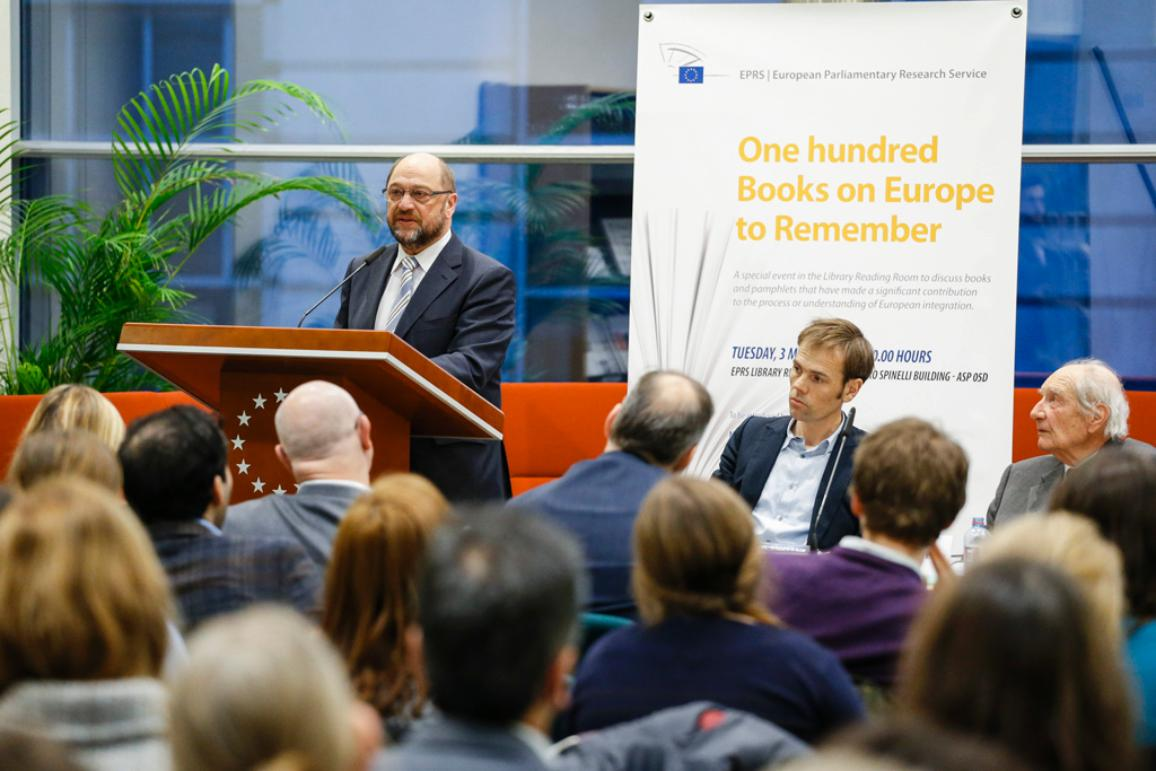 """EPRS """"100 books on Europe to remember"""" opening ceremony with EP President Martin Schulz"""