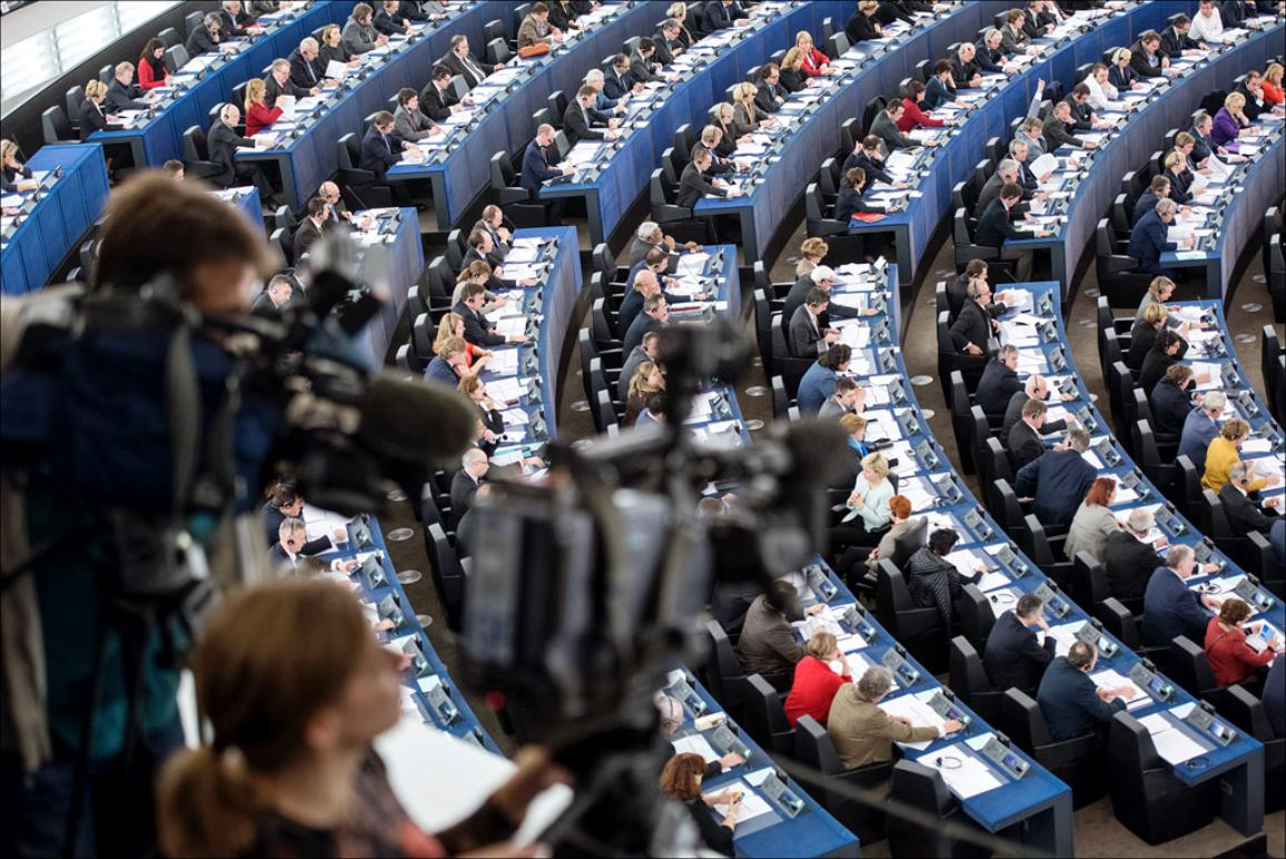 MEPs cast their vote during a plenary sitting