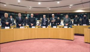"A minute of silence to commemorate the victims on the Germanwings  flight at the opening of the Inter-religious dialogue event held in the European Parliament: ""The rise of religious radicalism and fundamentalism and the role of inter-religious dialogue in the promotion of tolerance and respect for human dignity"""