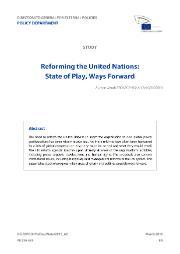 Reforming the UN