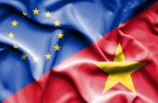 Joint image of EU and Vietnam flag