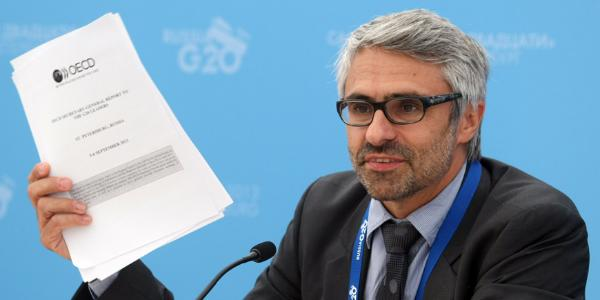 Pascal Saint-Amans, director of the Center for Tax Policy and Administration at the Organization for Economic Cooperation and Development (OECD) © BELGA_AFP