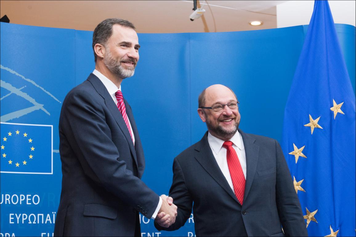 El Rey de España y el Presidente del Parlamento Europeo.