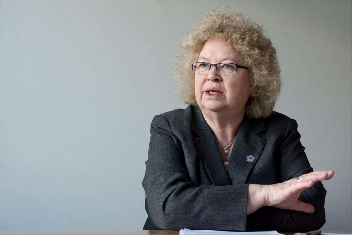 Jean Lambert, eurodiputada verde británica y Presidenta de la delegación del Parlamento Europeo para las Relaciones con los Países del Asia Meridional.