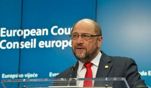 Backup photo: EP president Martin Schulz during the European Summit press conference © European Union 2015