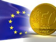 European flag and Euro coin