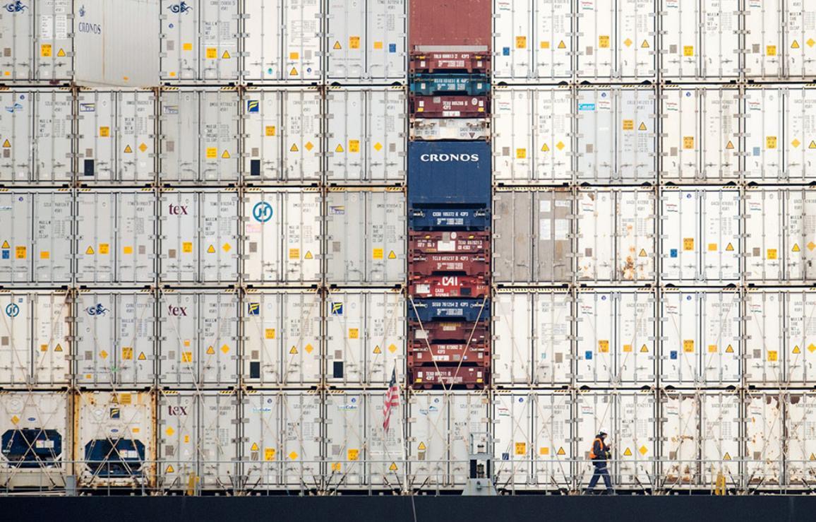 Photographie de conteneurs industriels