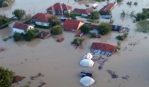 Mizia, Bulgaria: torrential rains caused the Skat River to flood on August 3, 2014. ©BELGA_Defence Ministry of Bulgaria