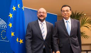 EP President Martin Schulz and  Li Keqiang, Premier of the People's Republic of China