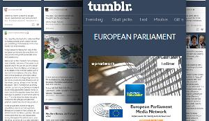Capture d'écran du réseau médias du Parlement européen