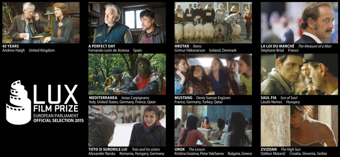 Embargo untill MONDAY 06/07/2015: LUX FILM PRIZE 2015 official selection