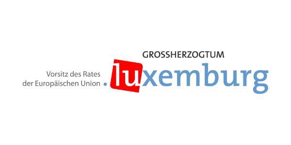 Das Bild zeigt das Logo der luxemburgischen Präsidentschaft