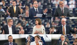 Weber, Pittella, Zile _Verhostadt, Harms, Nuttall_ Buonanno, Straujuma, Junker