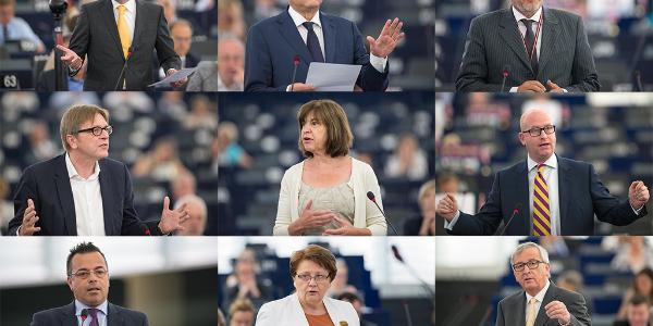 Deputāti debašu laikā