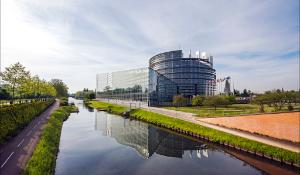The European Parliament in Strasbourg by day