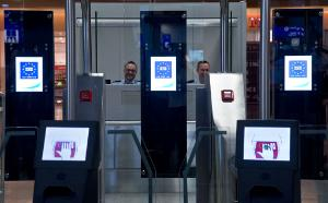 The new 'EasyPass' passport control system is introduced by the German Federal Police at Frankfurt/Main airport in Germany