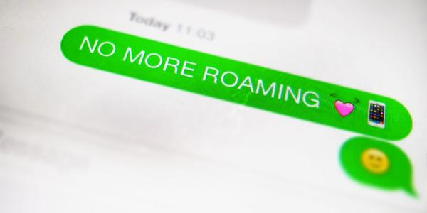 """An sms announcing the """"end of roaming charges"""""""