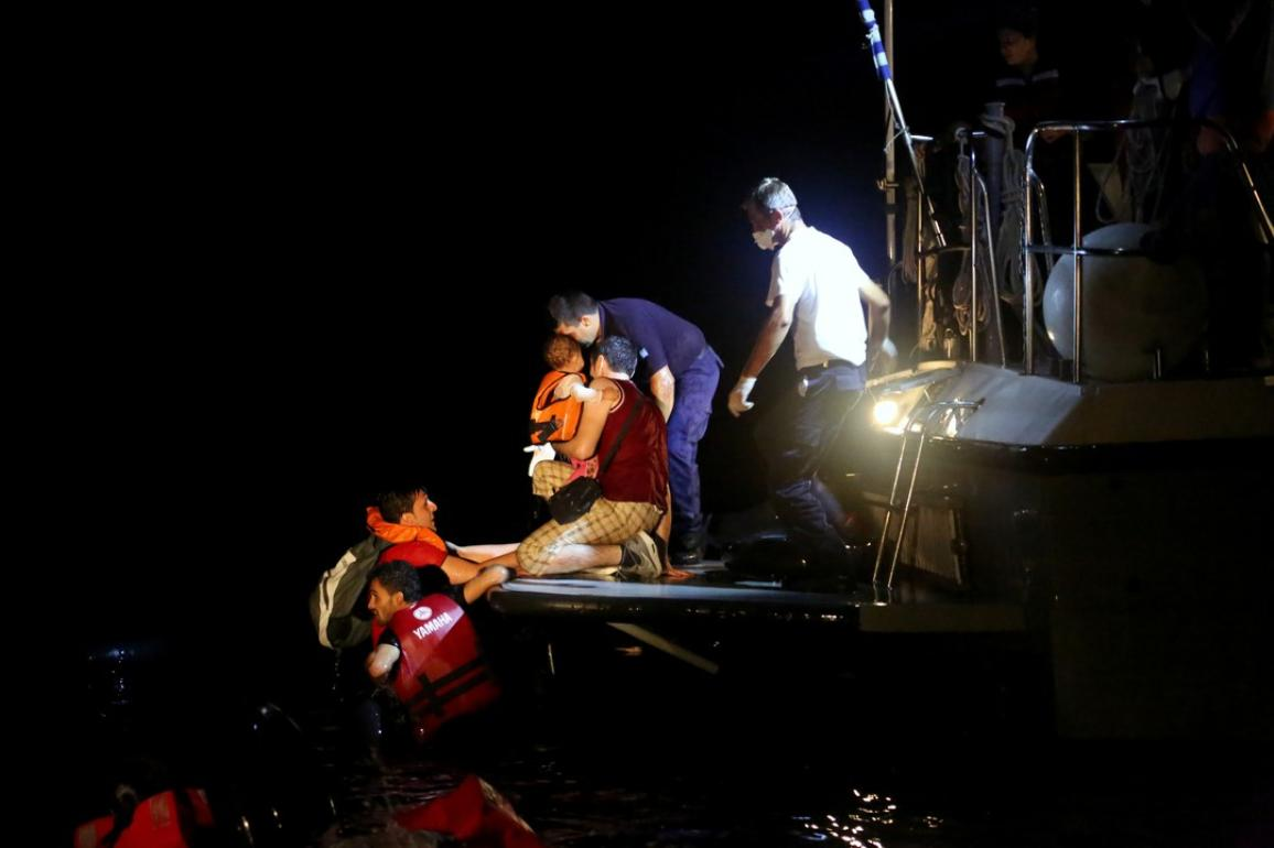 A refugee child been rescue by the Frontex force during the joint operation Poseidon. ©European Union 2015 - Frontex