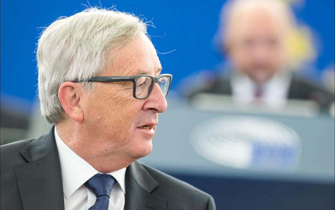 European Commissioner President Jean-Claude Juncker during the SOTEU debate in the plenary chamber on Wednesday09/09/2015