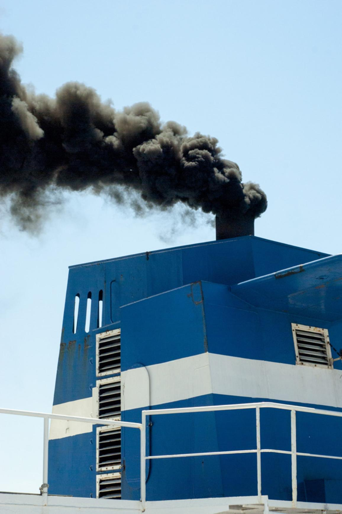 Ship with smoke emission and air pollution from the chimney ©AP Images/EP