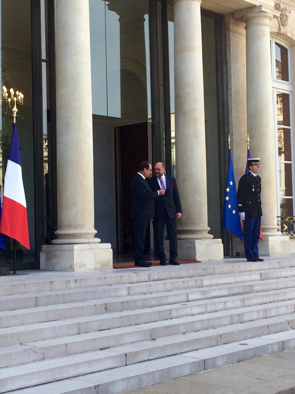 EP President Martin Schulz and French President François Hollande