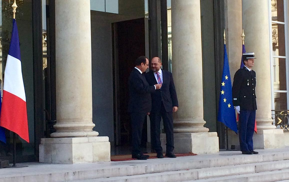 EP President Martin Schulz and French President François Hollande