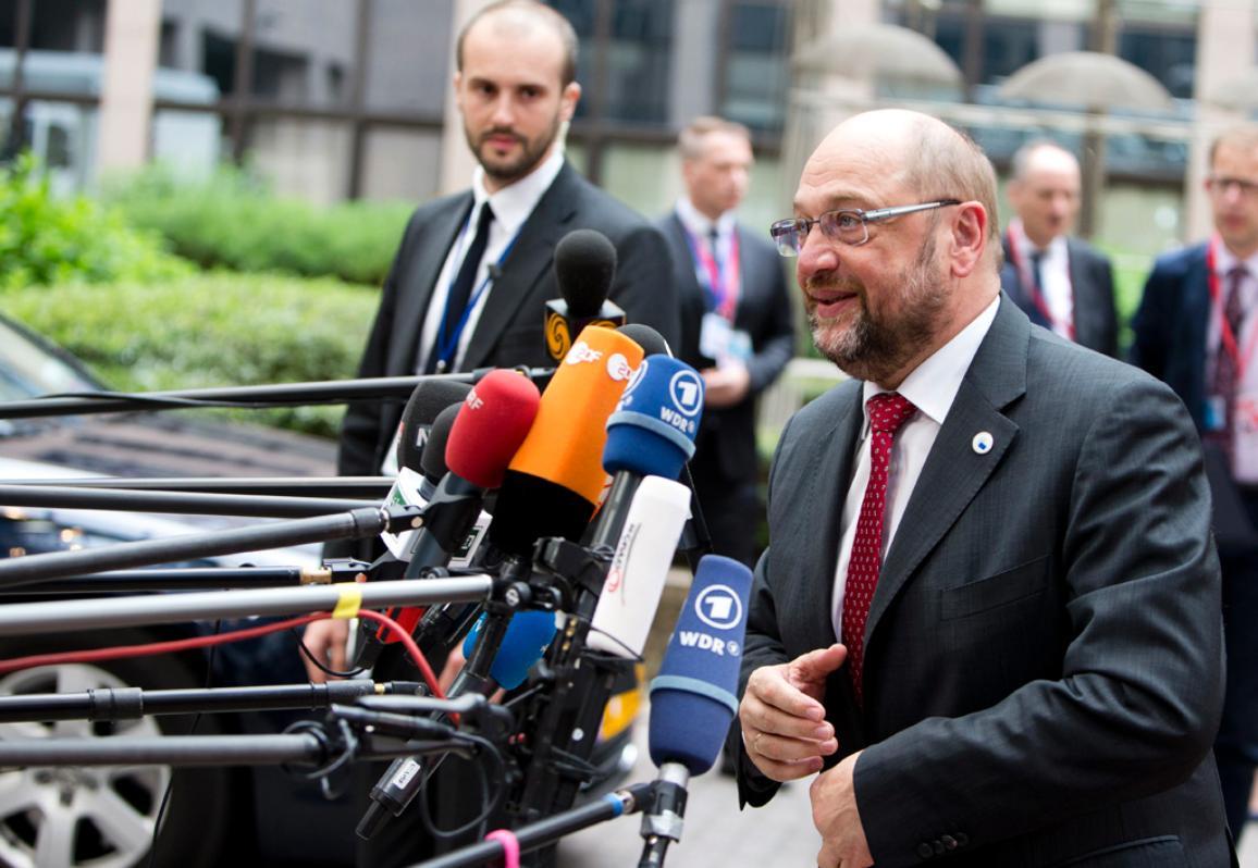 Ο Μάρτιν Σουλτς στη Σύνοδο Κορυφής για τη μετανάστευση (23-09-2015)