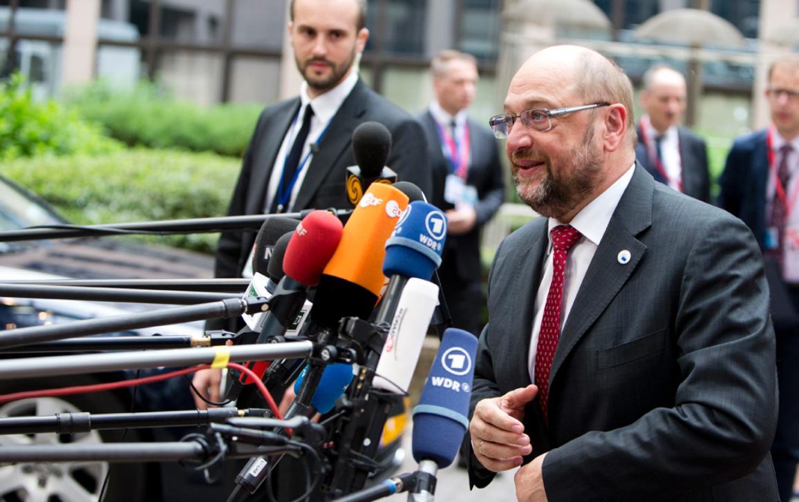 European Parliament President Martin Schulz arrives for a European Summit © European Union 2015 - European Council